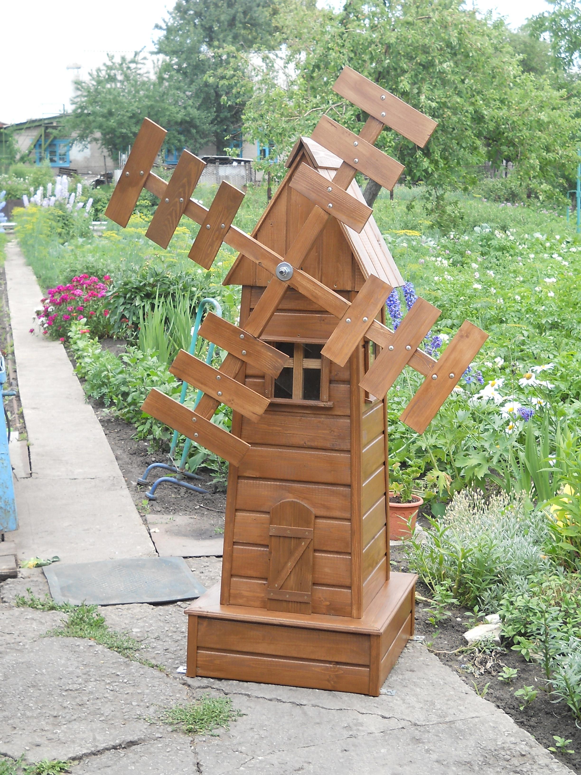 Мельница для сада своими руками. Лучшие идеи и мастер 27